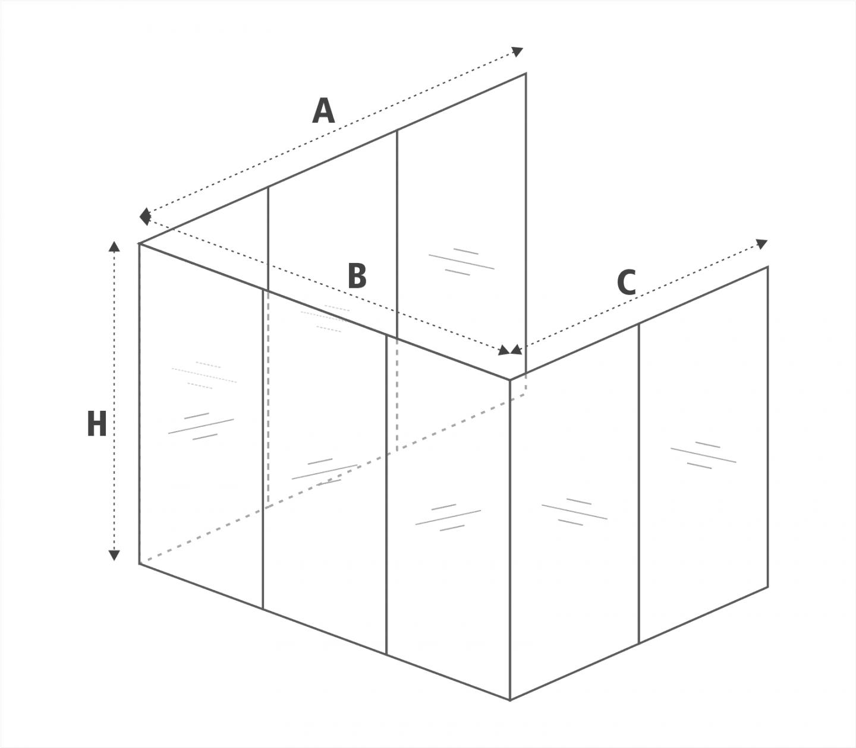 Skizze Balkonverglasung