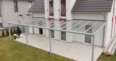 3 Dachtiefen Pultdach mit VSG-Eindeckung